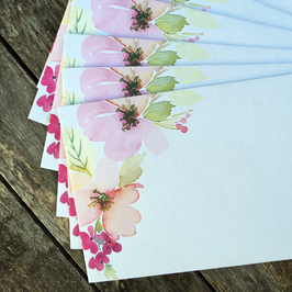 10 florale Briefumschläge DL | nala