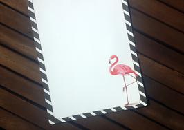 "20 Briefbogen ""Flamingo"" A4"