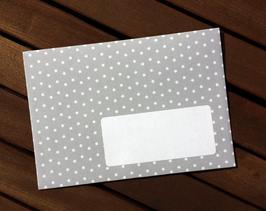 10 Sternchen-Briefumschläge grau