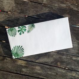 10 florale Briefumschläge DL | palm