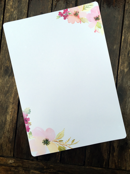 20 florale Briefbogen A4 | nala