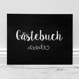 """Schild """"Gästebuch"""" // schieferfarben"""