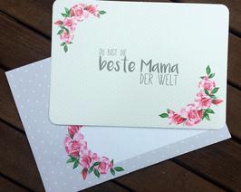 Postkarte für die beste Mama der Welt