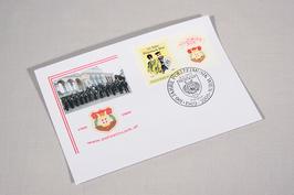 Kuvert mit Sonderbriefmarke und Ersttagsstempel