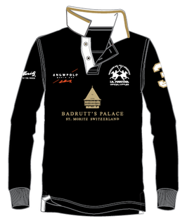 Badrutt's Palace Piquet Long Sleeve Polo