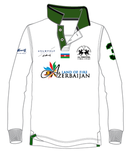 Aserbeijan Piquet Long Sleeves Polo