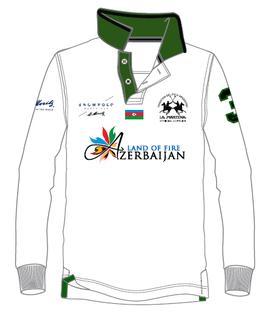 Aserbeijan Piquet langarm Polo