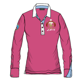 White Turf Ladies Long Sleeve Polo