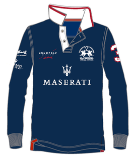 Maserati Piquet Long Sleeve Polo
