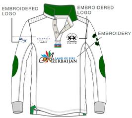 Aserbeijan Teamshirt Unisex