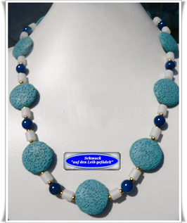 164. blaue Lava-Kette