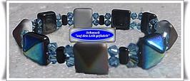 182) ausgefallenes Glasperlen-Armband