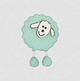 Schaf-Knopf verschiedene Farben 18 mm - Öse