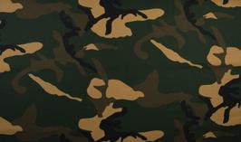 Camouflage grün - Popeline