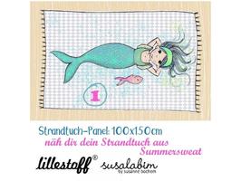Strandtuch Meerjungfrau 1 - Biosommersweat Lillestoff Susalabim