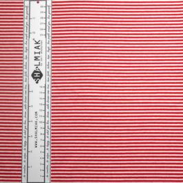 Bio-Bündchen Ringel rot/weiß - Shalmiak