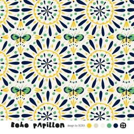 Boho Papillon - Schmetterlinge - Biojersey Lillestoff