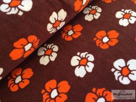 Retro Sommerblume 4 - Stretchfrottee