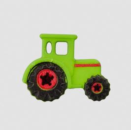 Traktor-Knopf hellgrün 23 mm