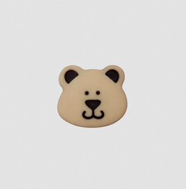 Bären-Knopf verschiedene Farben 15 mm - Öse