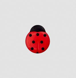 Marienkäfer-Knopf rot 14 oder 18 mm - Öse
