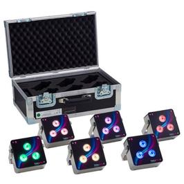 6er Set LED Scheinwerfer im Case