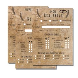50 Gästebuch Fragekarten