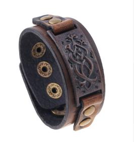Bracelet cuir Arabesques