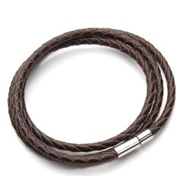Bracelet cuir Tressé triple tour