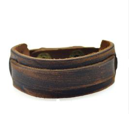 Bracelet cuir Plat manchette