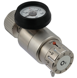 O2 Flaschendruckminderer mit Flow, 15l/min.