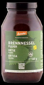 NaturKraftWerke Brennnessel Pulver, Demeter, Glas 160g