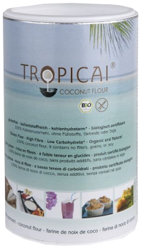 Tropicai Kokosnussmehl, Fairtrade, Bio, Dose 500g