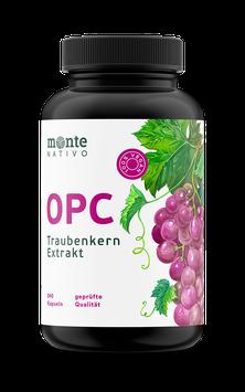 OPC Traubenkernextrakt MonteNativo – 240 vegane Kapseln | 800 mg Extrakt mit 528mg reinem OPC pro Tag nach HPLC-Methode | Aus französischen und italienischen Weintrauben. Hergest. in Deutschland