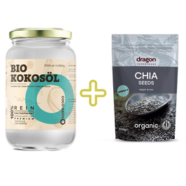 Black Friday Bio Kokosöl CocoNativo - 1000 ml (1L) + Bio Chia Samen 200g
