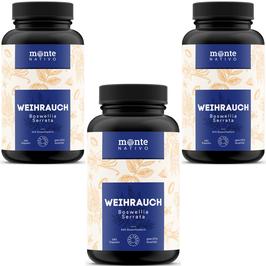 Weihrauch Extrakt MonteNativo – 3 Dosen*240 Kapseln (85% Boswelliasäure)