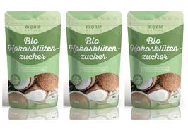 3 X Bio Kokosblütenzucker Monte Nativo 1kg (1000g) - unraffiniert - nährstoffreiche Zuckeralternative - Premium Kokoszucker  - Aus kontrolliert biologischem Anbau - Vegan - Frei von Zusatzstoffen