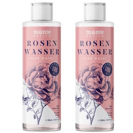 Rosenwasser MonteNativo 2x200ml - 100% natürlich, echtes Rosenwasser, Natural Rose Water