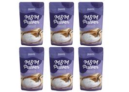 MSM Methylsulfonylmethan Pulver 6kg (6x1000g) Monte Nativo Hochdosiert - 99,9% reines MSM - Vegan - MSM schwefelhaltiges Pulver in Premium Qualität - Laborgeprüft und frei von Zusatzstoffen
