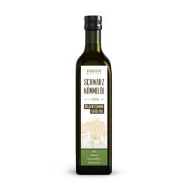 Schwarzkümmelöl MonteNativo (1x500ml) Glasflasche - Milder Geschmack, Kaltgepresst, Rein und Naturbelassen, Nigella Sativa, 0.5 Liter, Kein Intensiver Geschmack