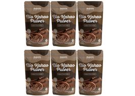 6 X Bio Kakao Pulver 1 kg (1000g) Monte Nativo – Premium Rohkakaopulver – zuckerarm - nährstoffreich und fein gemahlen - stark entölt – aus kontrolliert biologischem Anbau - frei von Zusatzstoffen
