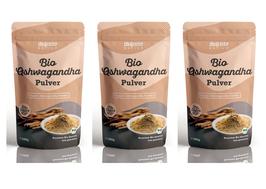 3 X Bio Ashwagandha Pulver von Monte Nativo – 700g Premium Qualität - Wurzel Pulver gemahlen - Indischer Ginseng - Schlafbeere - Withania Somnifera - Bio zertifiziert aus Indien - Laborgeprüft