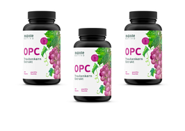 3 x OPC Traubenkernextrakt MonteNativo  – 240 vegane Kapseln | 800 mg Extrakt mit 528mg reinem OPC pro Tag nach HPLC-Methode | Aus französischen und italienischen Weintrauben. Hergest. in Deutschland