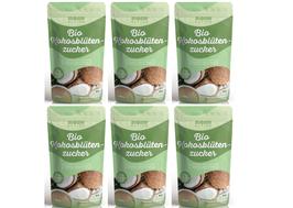6 X Bio Kokosblütenzucker Monte Nativo 1kg (1000g) - unraffiniert - nährstoffreiche Zuckeralternative - Premium Kokoszucker  - Aus kontrolliert biologischem Anbau - Vegan - Frei von Zusatzstoffen