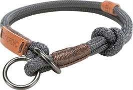 BE NORDIC Zug-Stopp-Halsband Dunkelgrau/Braun