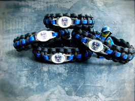 Paracord Armband Thin Blue - Österreich