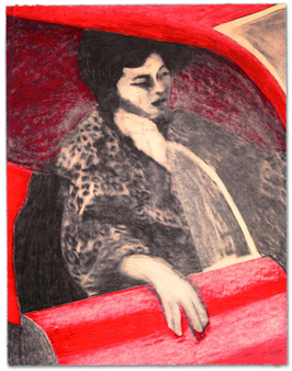 Gill: Woman in Red Car