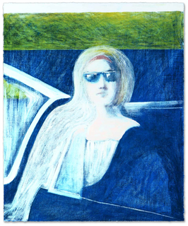 Gill: Woman in Blue Car