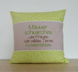 """Polster P6 """"Männer schnarchen"""""""