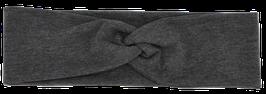Knotenstirnband grau